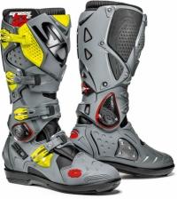 SIDI Crossfire2 SRS MX musta/harmaa/keltainen vaihtopohjalla 499,-