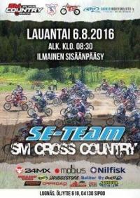 SM SE-Team Cross Country kilpailun aikataulu